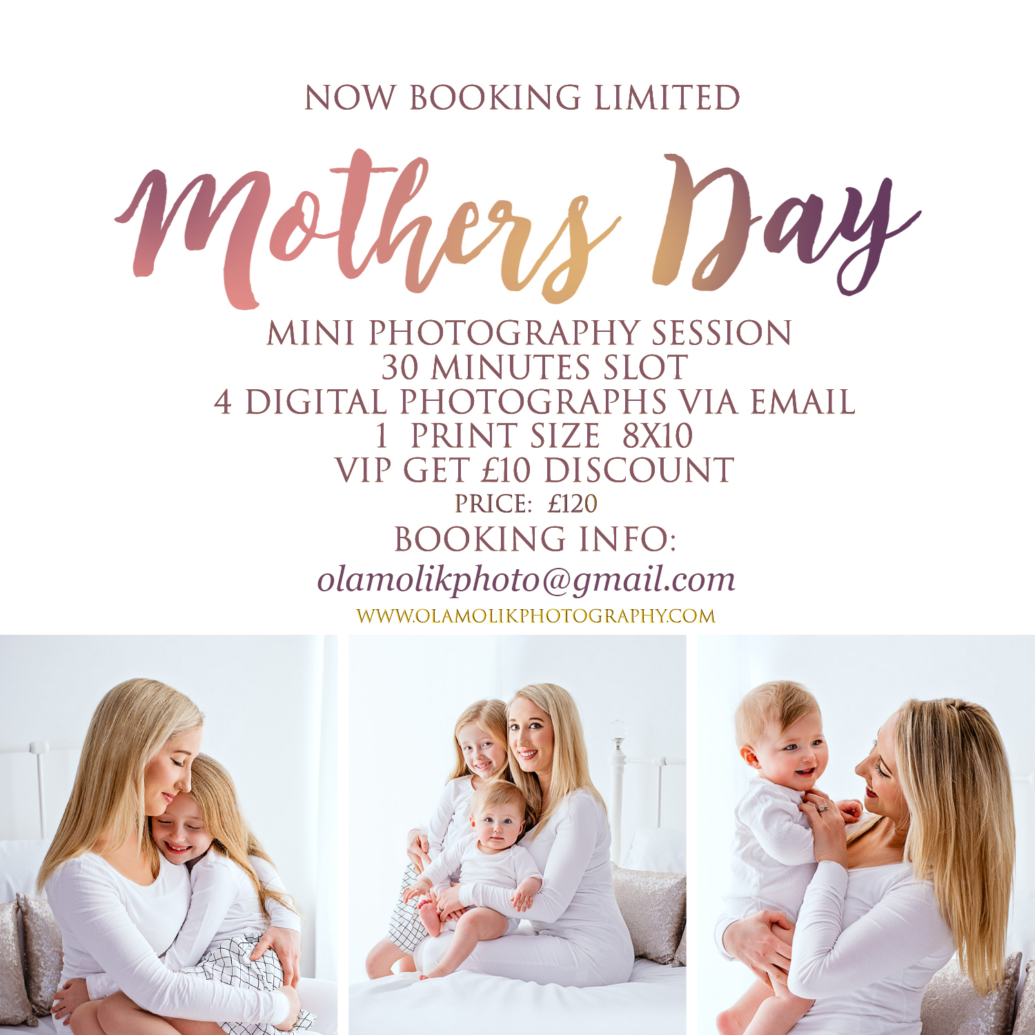 Mothers Day Mini Photography Session Glasgow