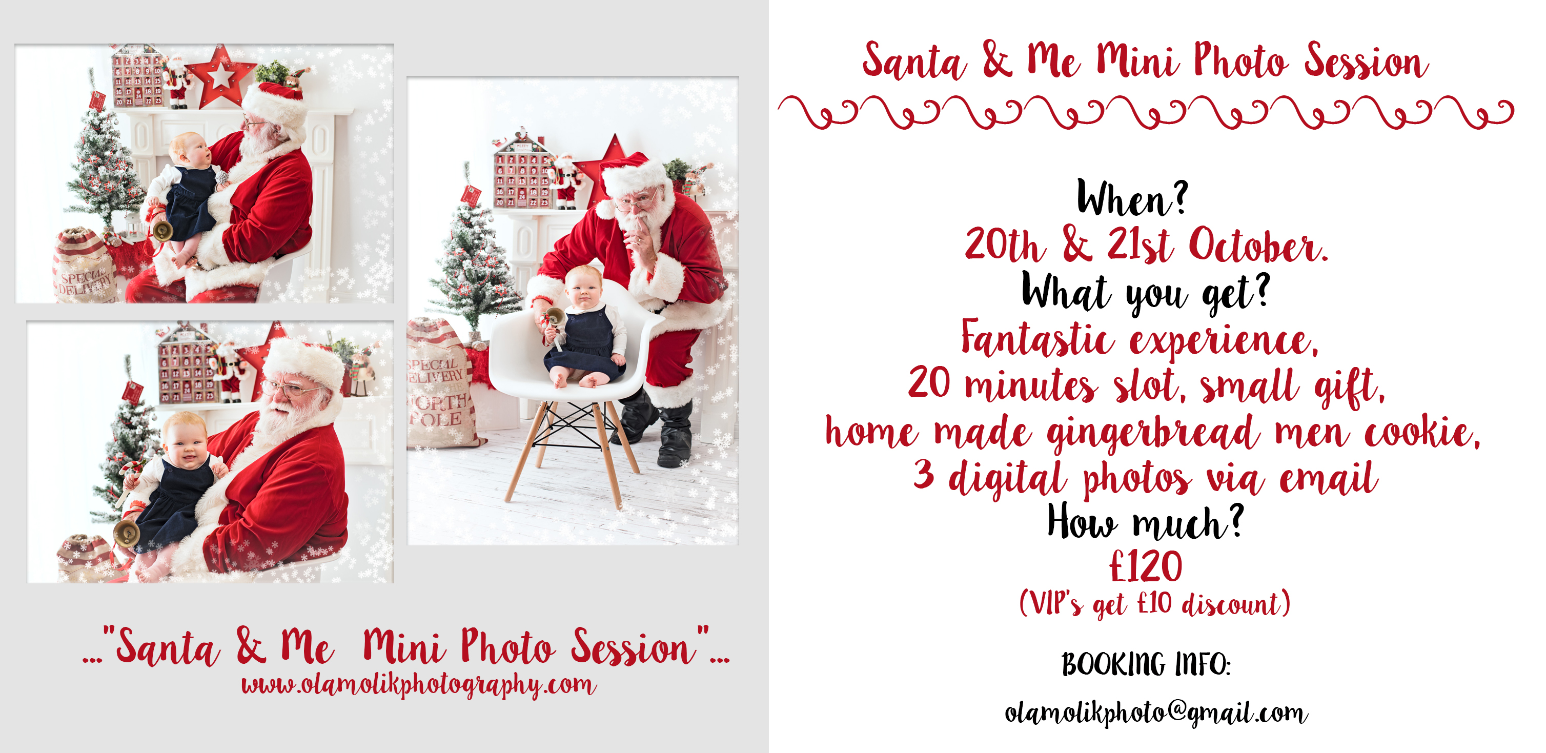 SANTA & ME mini session Glasgow