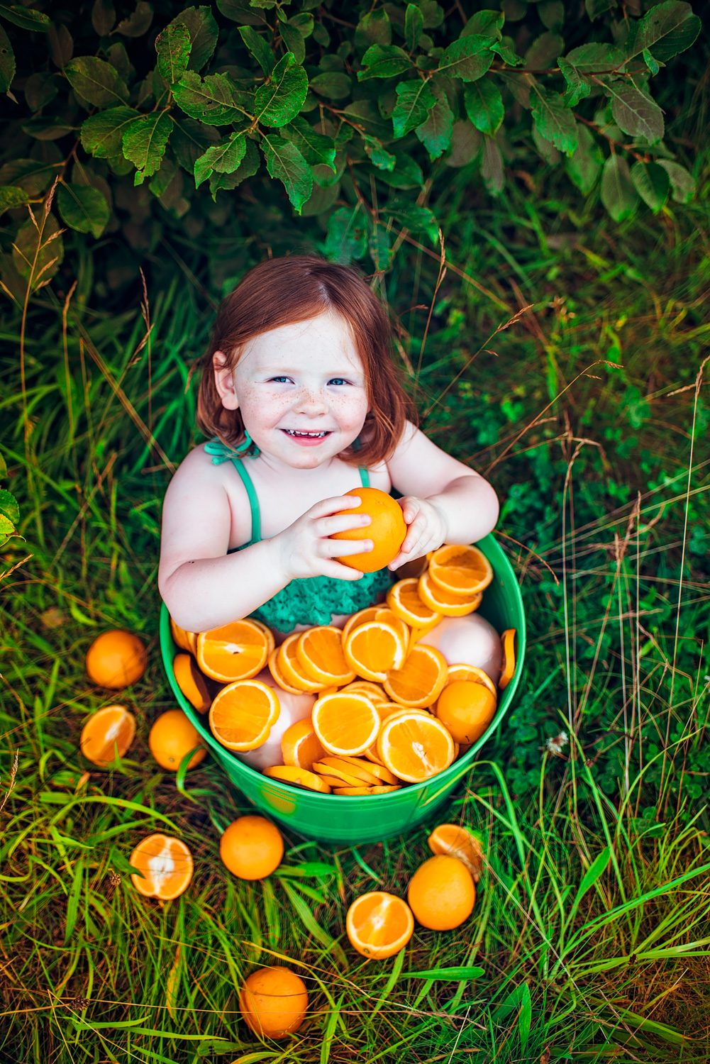 fruit bath photo session
