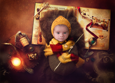 Harry Potter Newborn Photography Session Glasgow